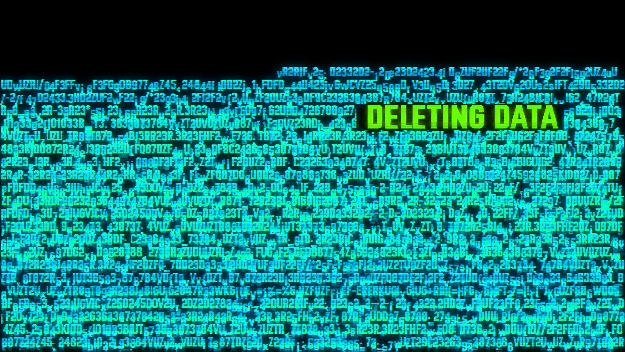Deleting Data Computer System Hacked Terminal Concept Illustration